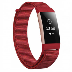 Fitbit Charge 3/4 Armband Nylon rot