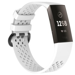 Fitbit Charge 3/4 Armband Elastomer Weiß (S)