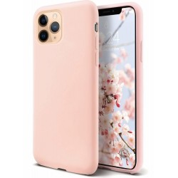 iPhone 11 Pro Max Handyhülle Liquid Silicone hellrosa