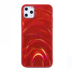 iPhone 11 Pro Max holografische Hülle TPU / PC Rot
