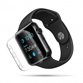 Display-Schutzfolie Apple Watch 2/3 (42 mm) mit Kantenschutz - transparent