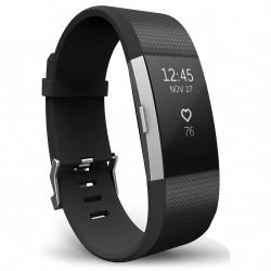 Fitbit Charge 2 Armband schwarz (S)
