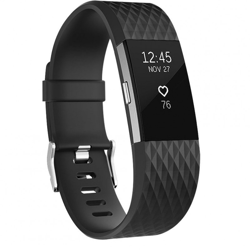 Fitbit Charge 2 Armband schwarz (L)